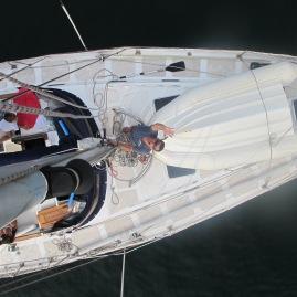 Vista do topo do mastro.