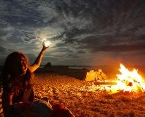 Full Moon and Bonfire Lua cheia e fogueira