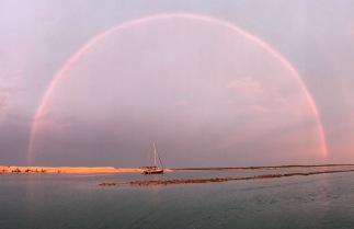 Rain, sunset... rainbow Chuva, por do sol... arco-iris!