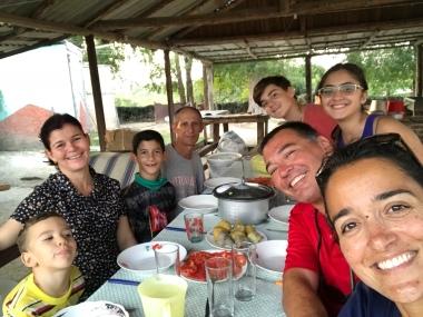 Almoço com a família do Pastor