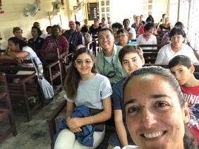 Selfie - na igreja no Domingo de Ramos