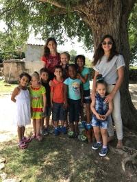 Encontro de crianças no Domingo de Ramos - brincadeiras e interação
